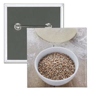 Bowl of Cereal Grain and Mound of Dough Pins