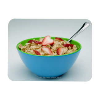 Bowl of cereal rectangular photo magnet