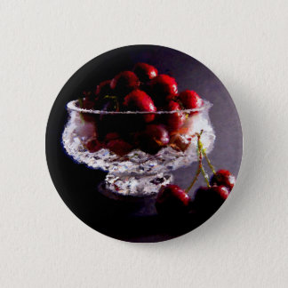 Bowl of Cherries Abstract 2 Inch Round Button
