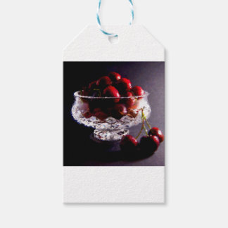 Bowl of Cherries Abstract Gift Tags