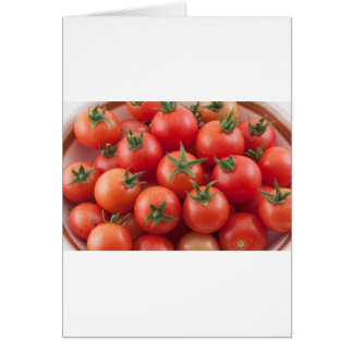 Bowl Of Cherry Tomatoes Card