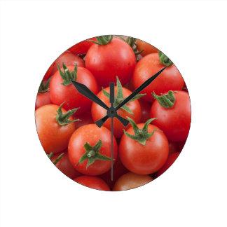 Bowl Of Cherry Tomatoes Round Clock