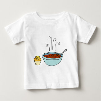 Bowl of chili and cornbread muffin baby T-Shirt
