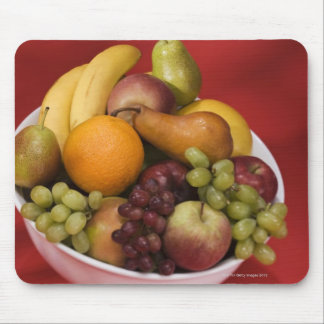 Bowl of fresh fruits mouse pads