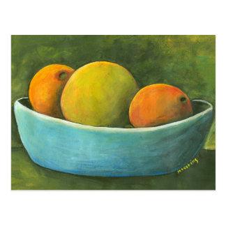 Bowl Of Fruit Still Life Postcard