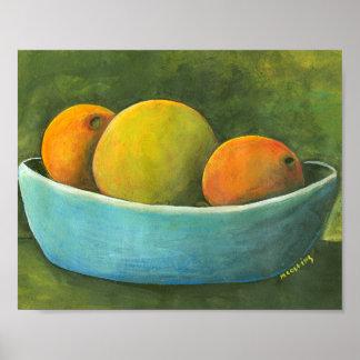 Bowl Of Fruit Still Life Poster