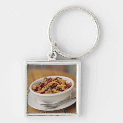Bowl of granola keychains