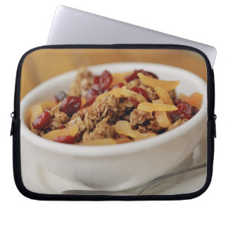 Bowl of granola laptop computer sleeves