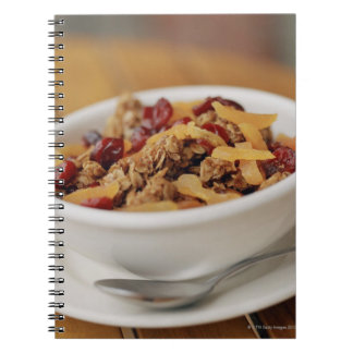 Bowl of granola spiral note book