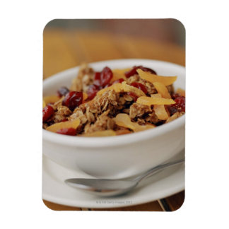 Bowl of granola rectangle magnets