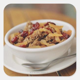 Bowl of granola square sticker