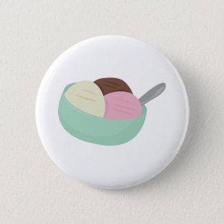 Bowl Of Ice Cream 2 Inch Round Button