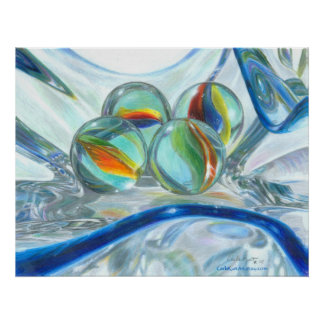 Bowl of Marbles, Large Poster