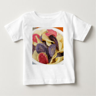 Bowl of Mixed Potato Chips Close-Up Baby T-Shirt