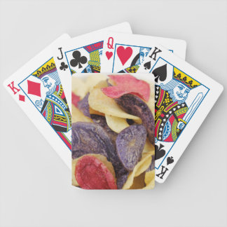 Bowl of Mixed Potato Chips Close-Up Bicycle Playing Cards