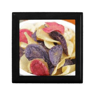 Bowl of Mixed Potato Chips Close-Up Gift Box