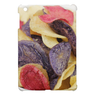 Bowl of Mixed Potato Chips Close-Up iPad Mini Cover