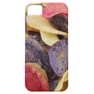 Bowl of Mixed Potato Chips Close-Up iPhone 5 Covers