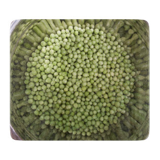 Bowl of Peas Glass Cutting Board