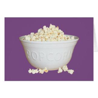 Bowl of Popcorn Card