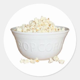 Bowl of Popcorn Classic Round Sticker