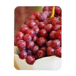 Bowl of Red Grapes Rectangular Photo Magnet