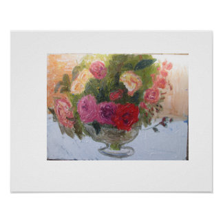 bowl of roses poster