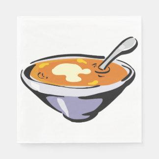 Bowl Of Soup Paper Napkins
