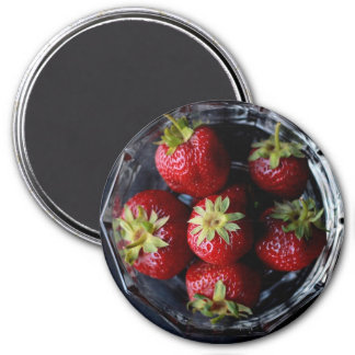 Bowl of Strawberries Cute Food Refrigerator Magnet