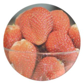 Bowl of Strawberries Dinner Plate