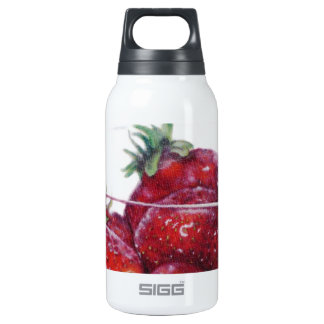 Bowl of Strawberries Insulated Water Bottle