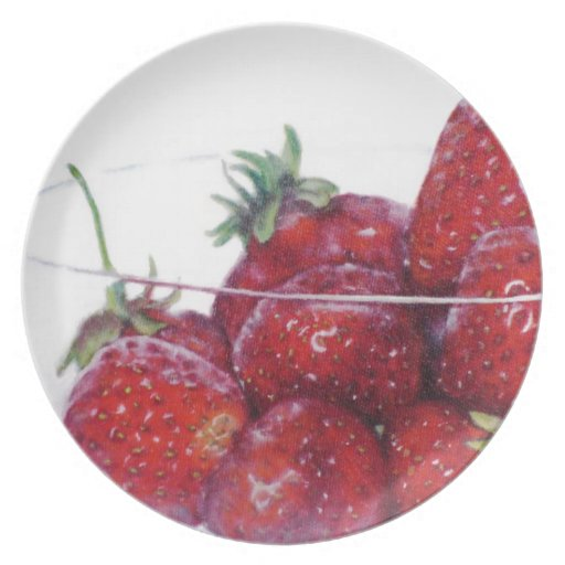 Bowl of Strawberries Party Plate