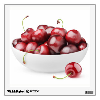 Bowl of sweet cherries wall decal