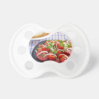 bowl of vegetarian salad pacifier