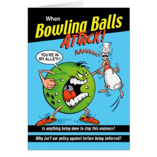 Bowl-Off Bowling Birthday Card