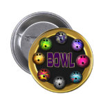 Bowl Pinback Buttons