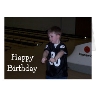 BOWL THEM OVER ON YOUR BIRTHDAY YOUNG MAN CARD