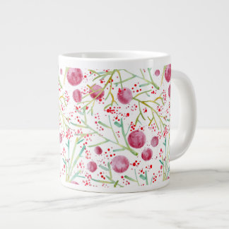 Bowl Watercolors Large Coffee Mug