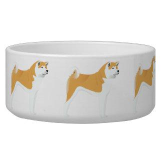Bowl with Akita dog