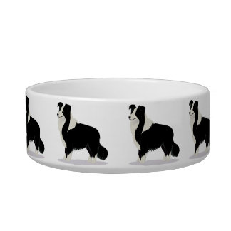 Bowl with border collie