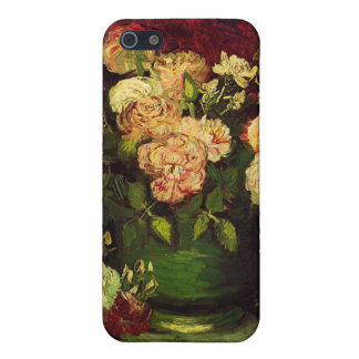 Bowl with Peonies and Roses, Vincent van Gogh. iPhone 5/5S Covers