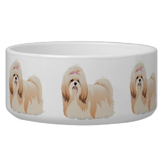 Bowl with shih tzu