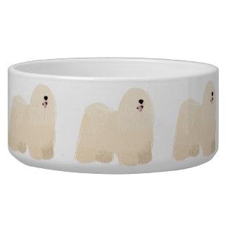 Bowl with white puli