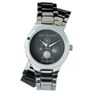 Bowled_And_Beautiful_Ladies_Silver_Lawn_Bowl_Watch Watches