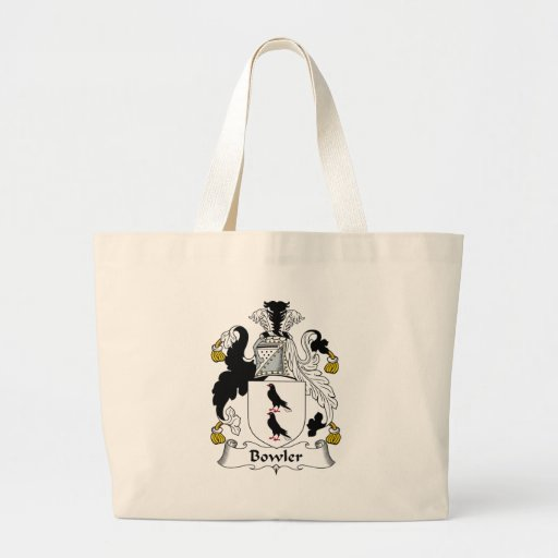 Bowler Family Crest Tote Bags
