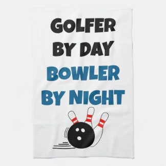 Bowler Golfer Kitchen Towels