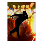 Bowler with Strike Explosion Poster