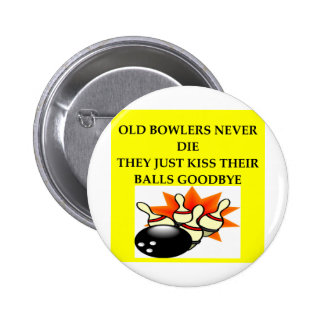 BOWLERS 2 INCH ROUND BUTTON