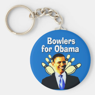Bowlers for Obama Political Keychain