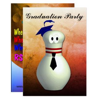 Bowler's graduation card